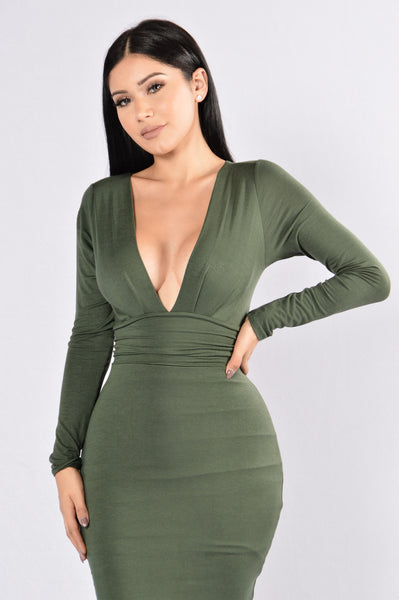 Good Vibrations Dress - Hunter Green