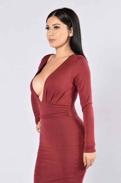 Good Vibrations Dress - Wine