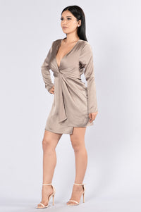 Satisfaction Dress - Taupe