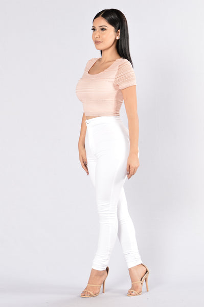 Play Fair Crop Top - Blush
