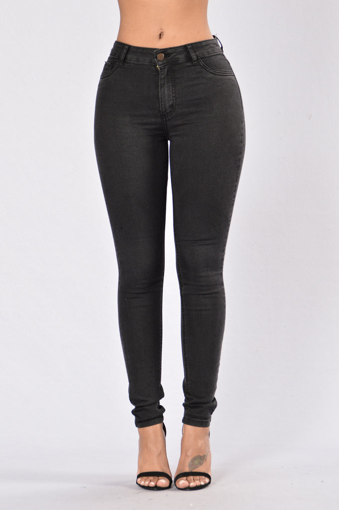 Blacked Out Jeans - Black