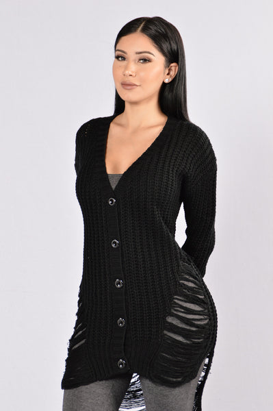 Undone Cardigan - Black