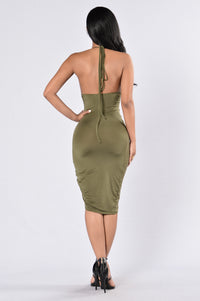 The Whip And Body Dress - Olive