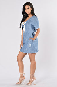 Niagara Falls Dress - Denim