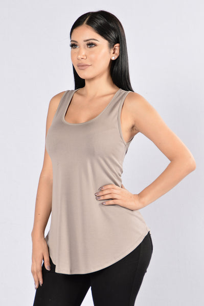 Blank Mind Tank - Taupe