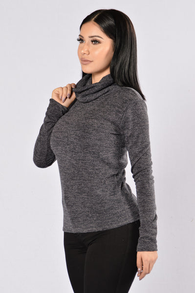 Win the Race Sweater- Charcoal