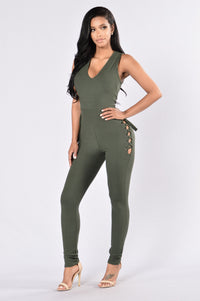 Check My Side Jumpsuit - Olive