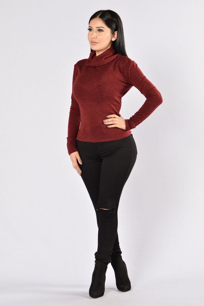 Win the Race Sweater - Burgundy
