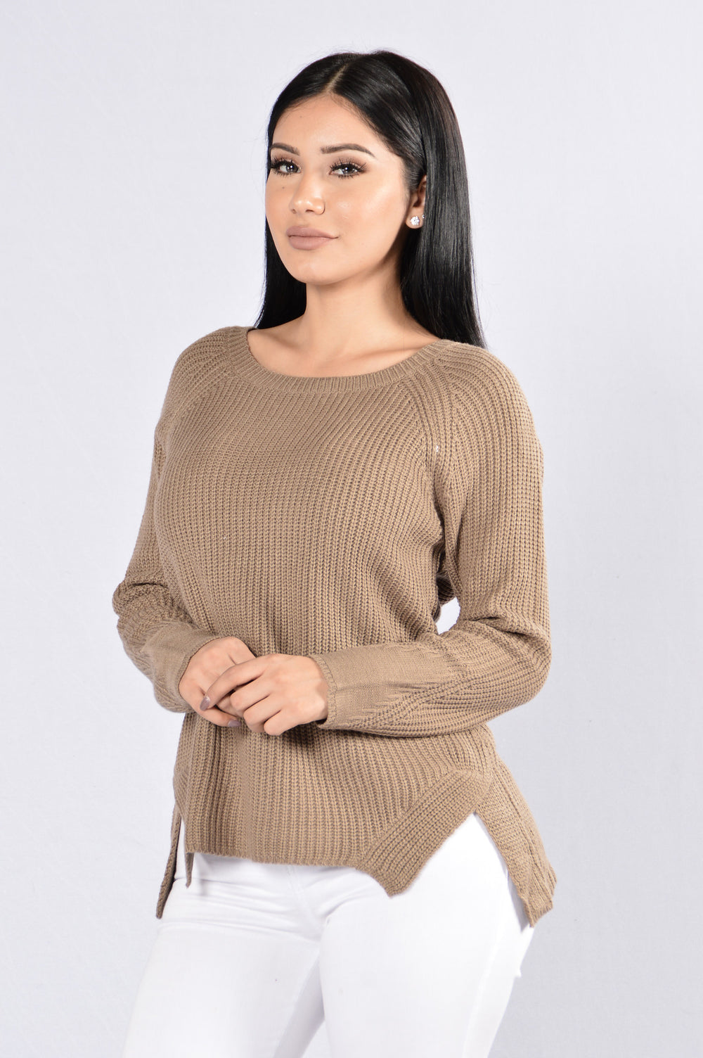 Ribbed My Heart Sweater - Coffee