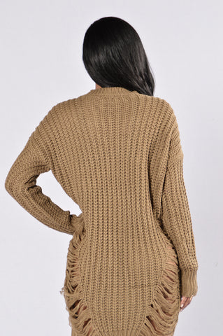 Unraveled Sweater - Olive