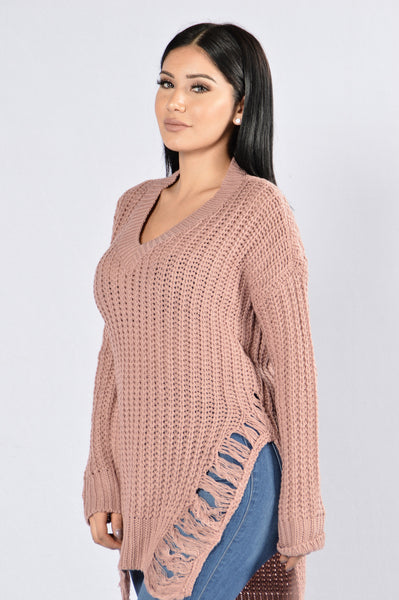 Unwind Sweater - Mauve