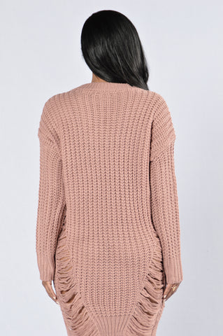 Unraveled Sweater - Mauve