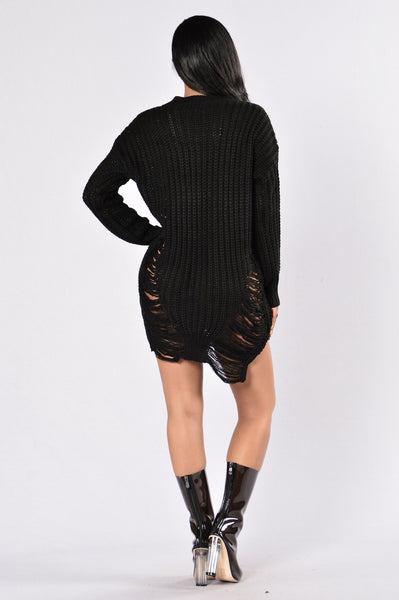 Unraveled Sweater - Black