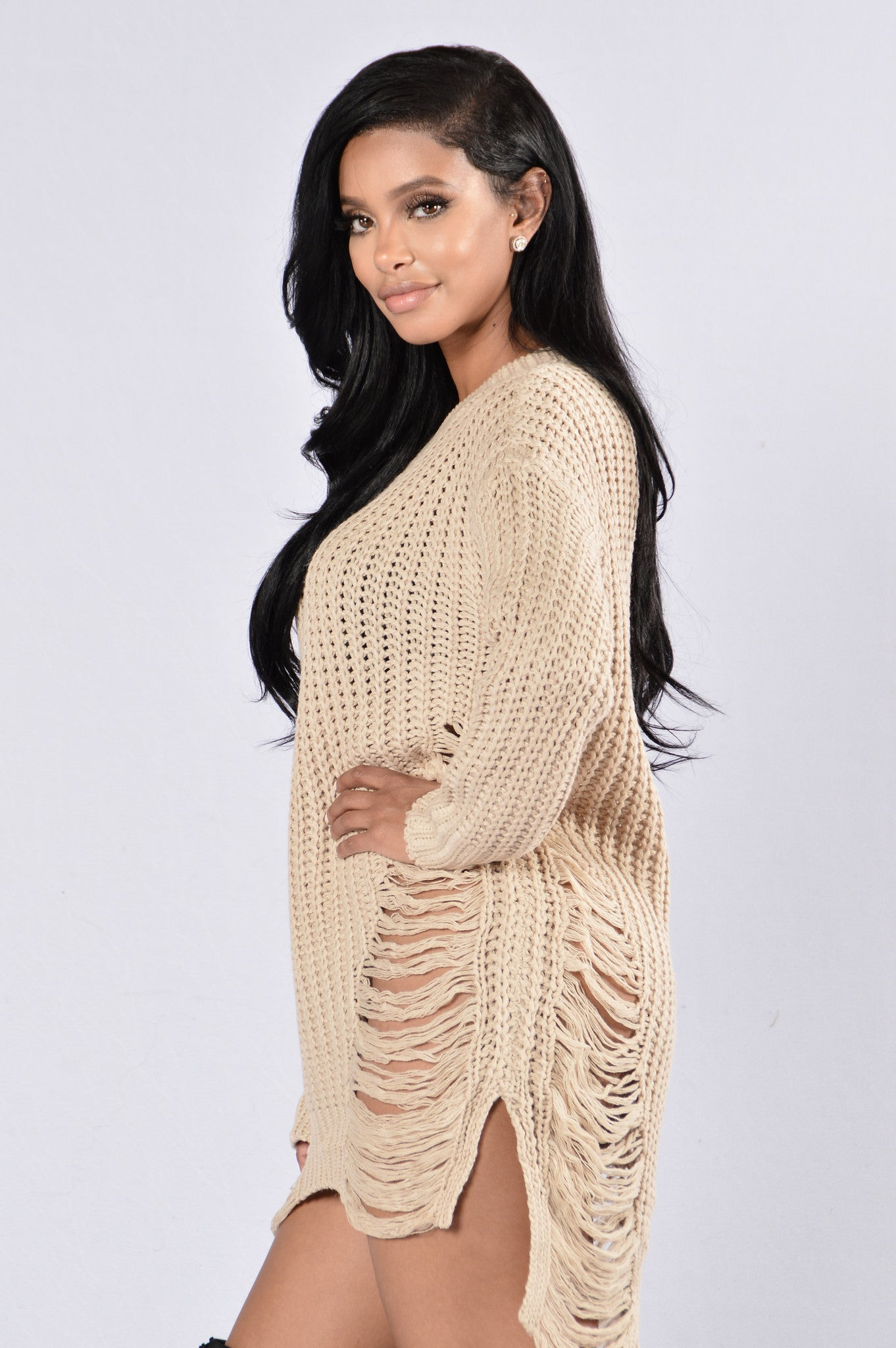 Unraveled Sweater Taupe