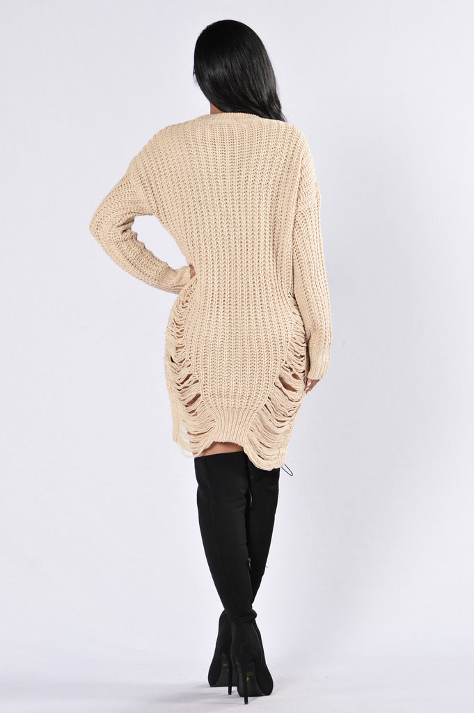 Unraveled Sweater - Taupe