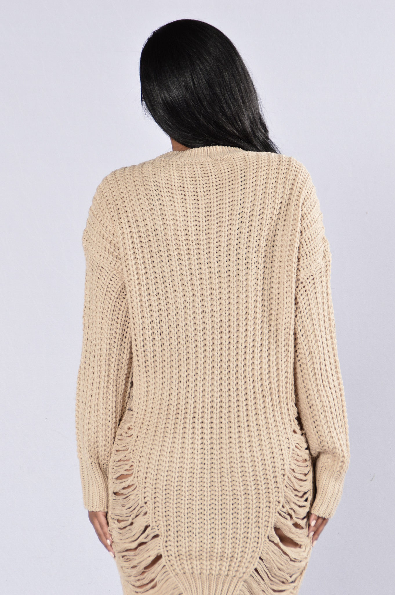 9b2c44f86d6 Unraveled Sweater - Taupe