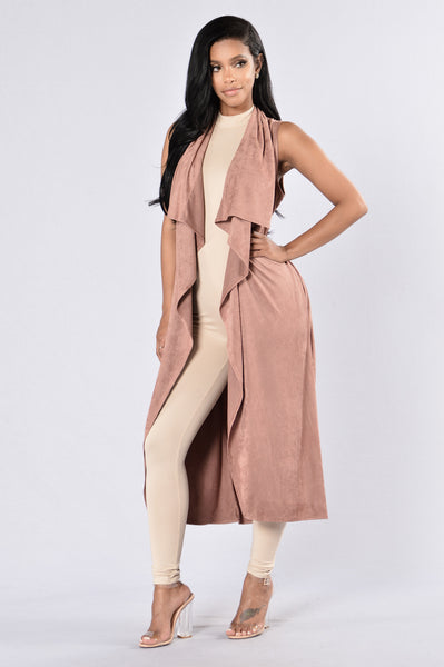 Way Out West Vest - Rose