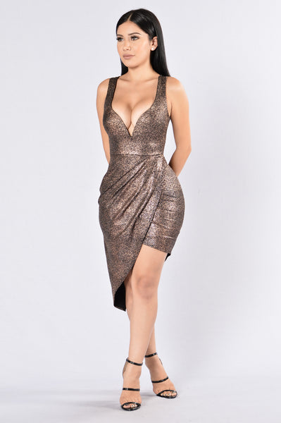 Midnight Express Dress - Bronze