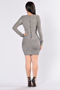 Mean Streets Dress - Black/Silver