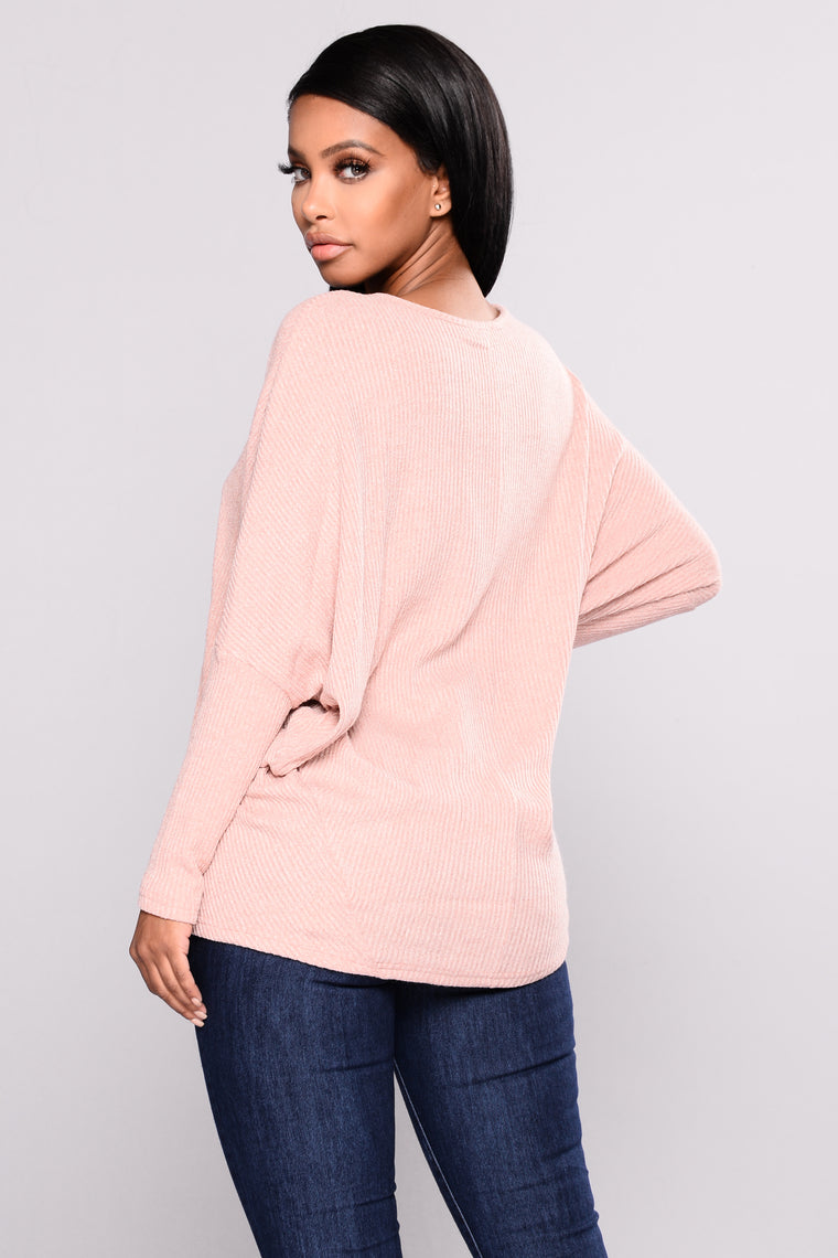 Stealing The Scene Oversized Sweater - Rose