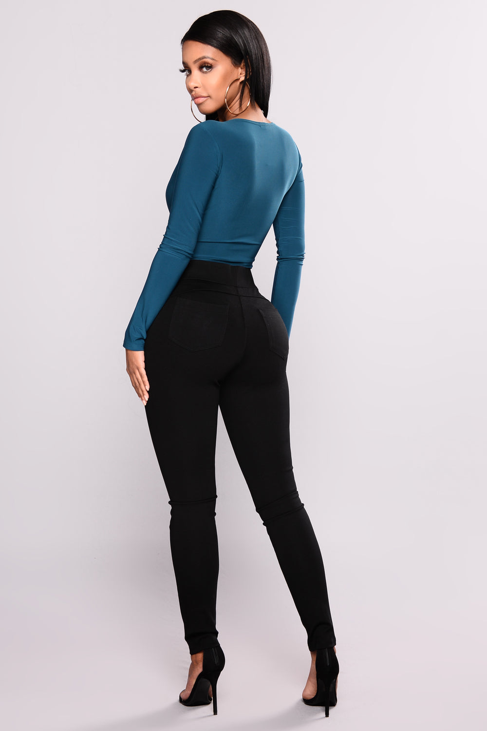 Get Outta Town Zip up Leggings -  Black