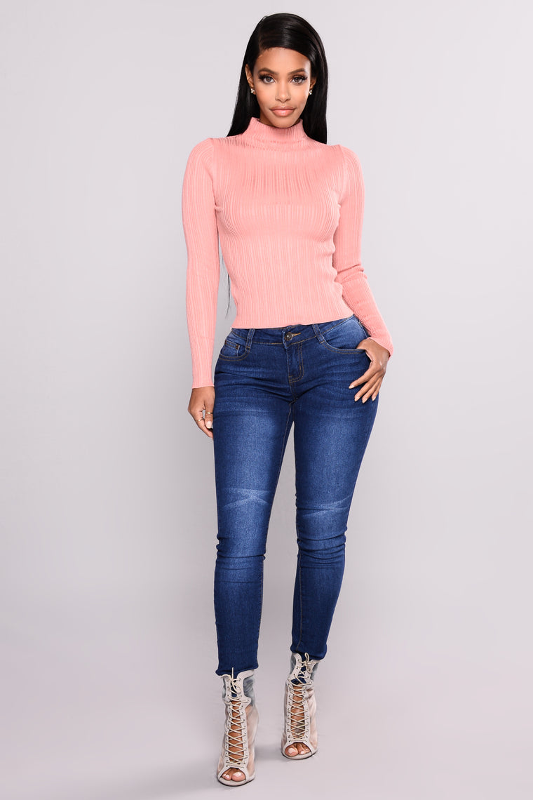 Baldwyn Long Sleeve Sweater - Mauve