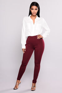 Kimmy Booty Lifting Leggings - Wine