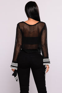 Arlina Bell Sleeve Top - Black