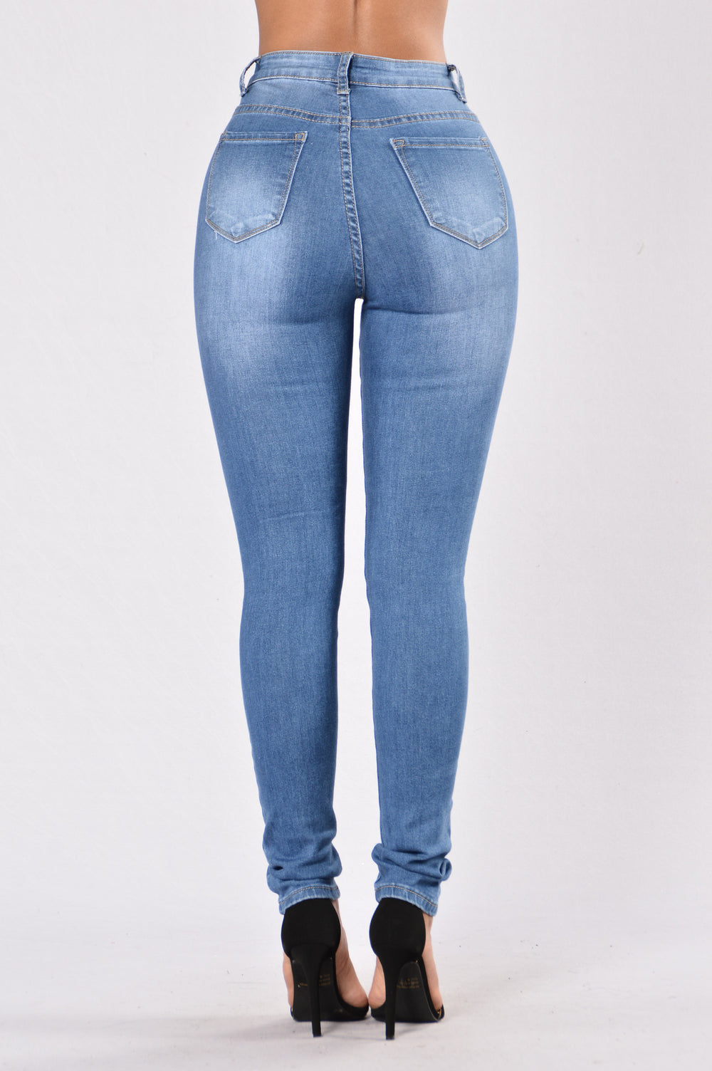Beg For It High Rise Jean - Medium Wash
