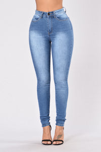 Now and Later High Waist Jean - Light