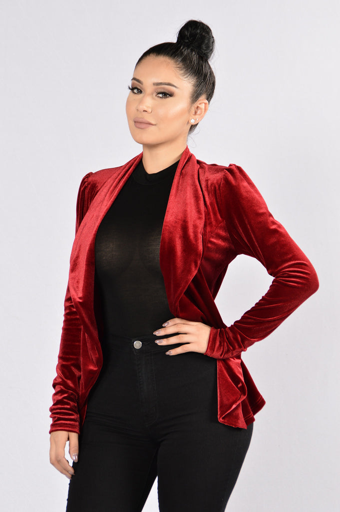 Broken Heart Blazer - Burgundy