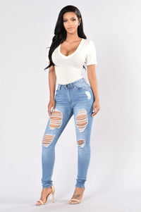 Excuse Me Mama High Rise Jean - Medium