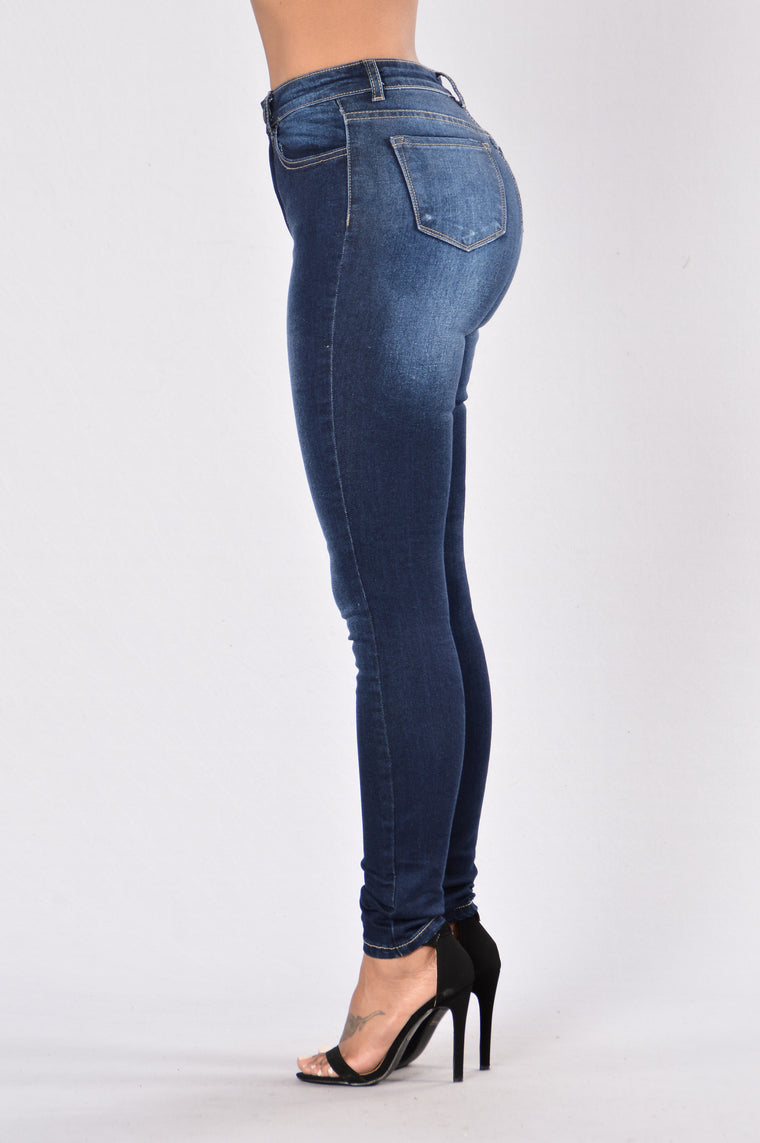 Now and Later High Waist Jean - Dark