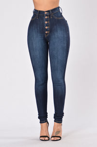 Push My Buttons Jeans - Dark