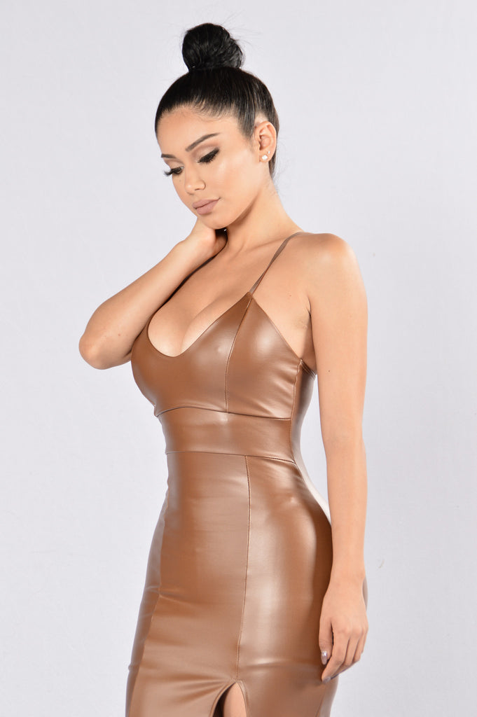 Not Myself Tonight Dress - Brown