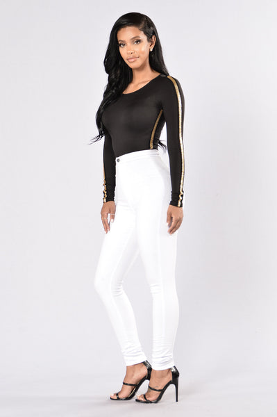 Go For The Gold Bodysuit - Black