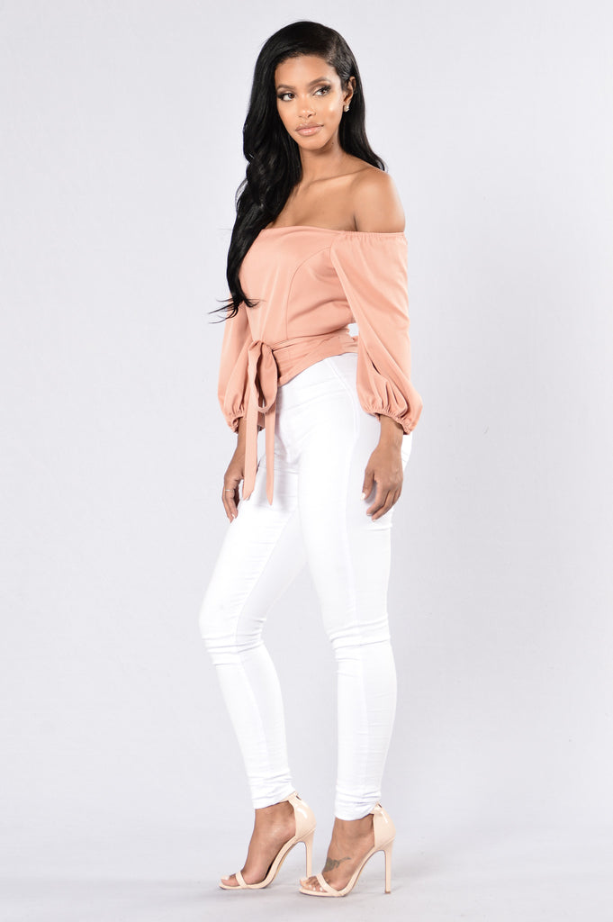 Little Black Book Top - Blush