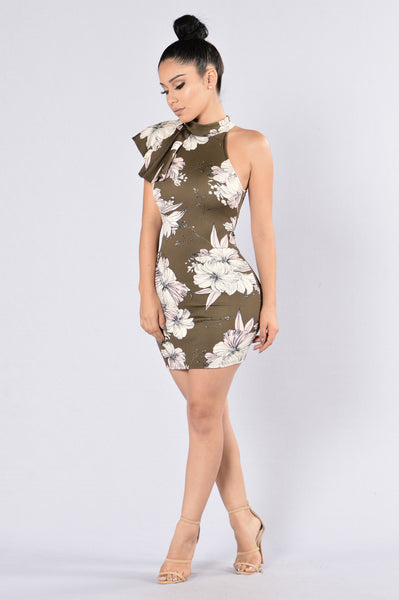 Love Spreads Dress - Olive