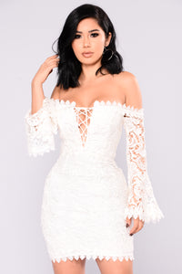 Jolene Crochet Dress - White
