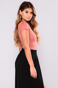 Adrienne Crop Top - Marsala