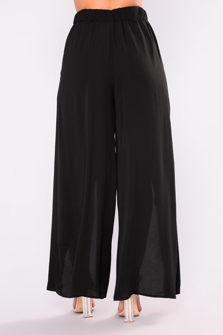 Sadey Slit Pants - Black