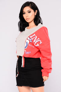 Dope Chick Zipper Sweatshirt - Red