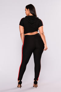 Outlines Pant Set - Black