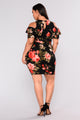 Cared For You Dress - Black Floral