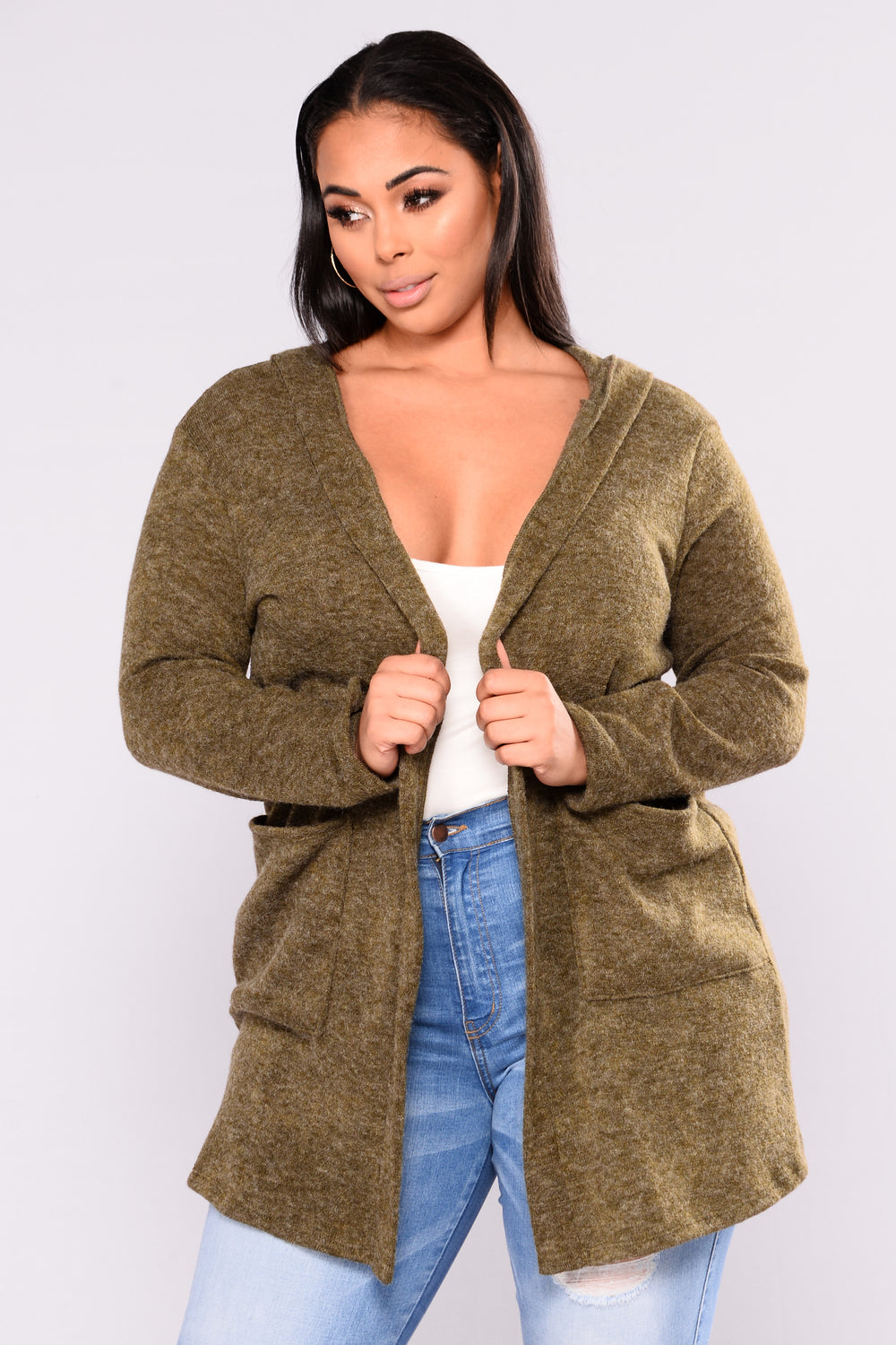 Easy Play Cardigan - Olive