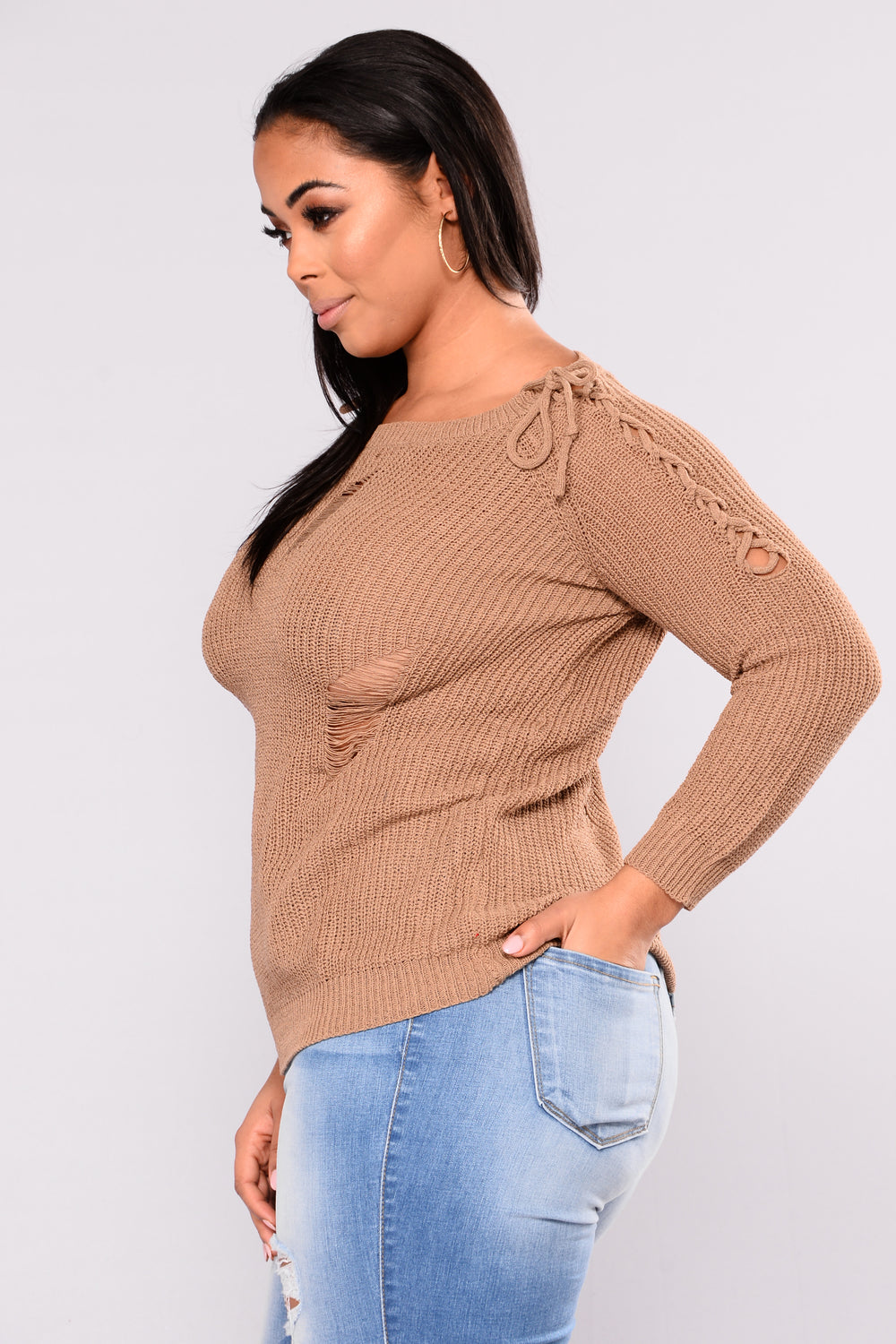 Keys To The Streets Sweater - Mocha