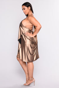 Man Hunt Party Dress - Bronze