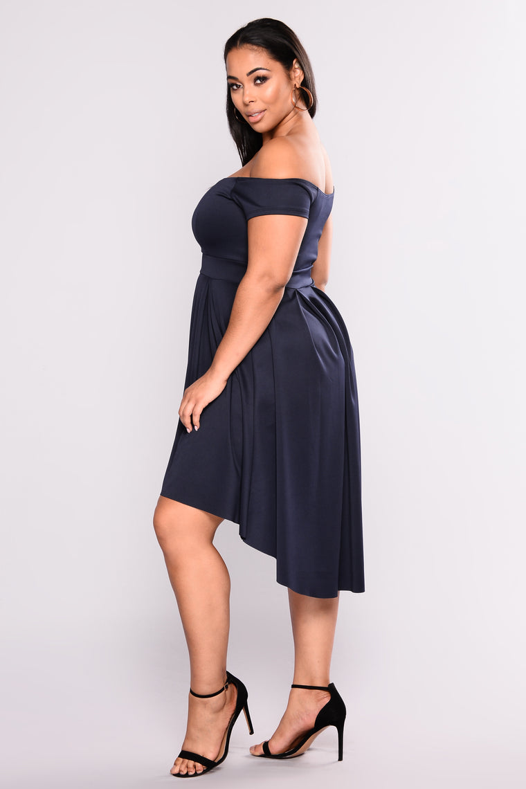 Mix And Mingle Party Dress - Navy