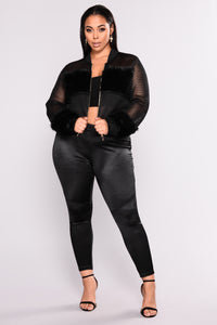 Milly Mesh Jacket - Black Angle 6