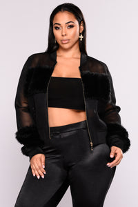 Milly Mesh Jacket - Black Angle 7
